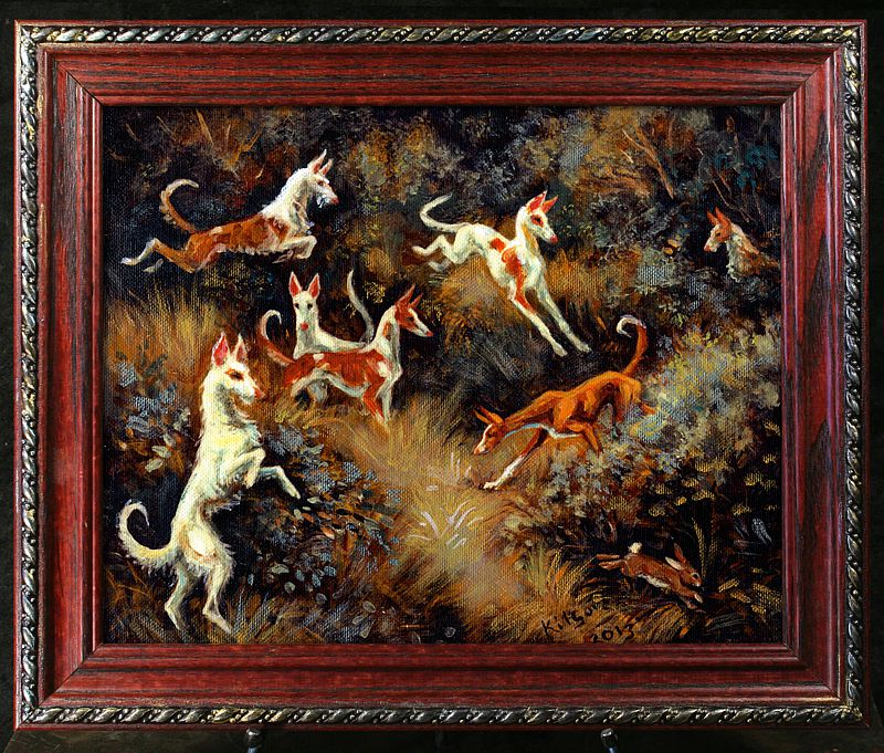 "Ibizan Hound ""The Pride of Spain"" Rare Limited Edition Print 9/12"