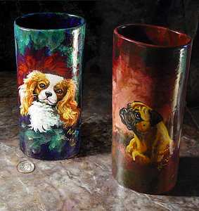 Deco Cylinder Vase Examples
