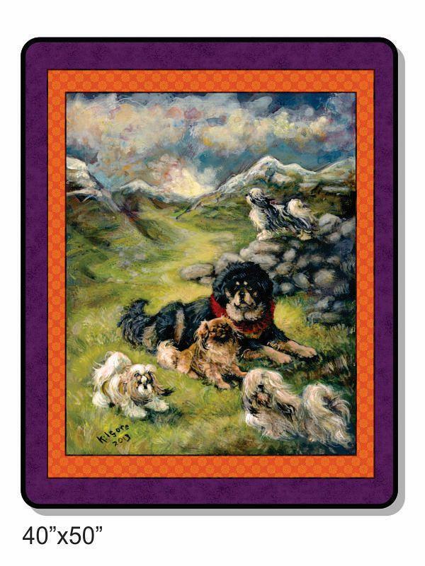 "The Tibetan breeds ""The Tibetan Dog"" 50x40 inch fleece throw"